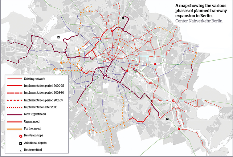 Berlin tramway expansion proposals unveiled