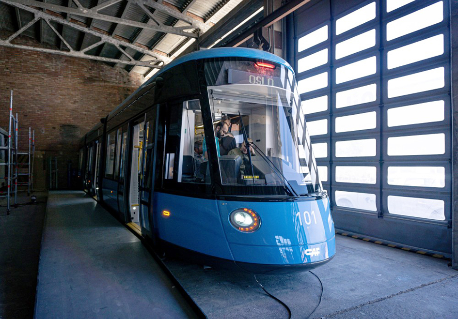 Mock-up of Oslo's new CAF trams unveiled