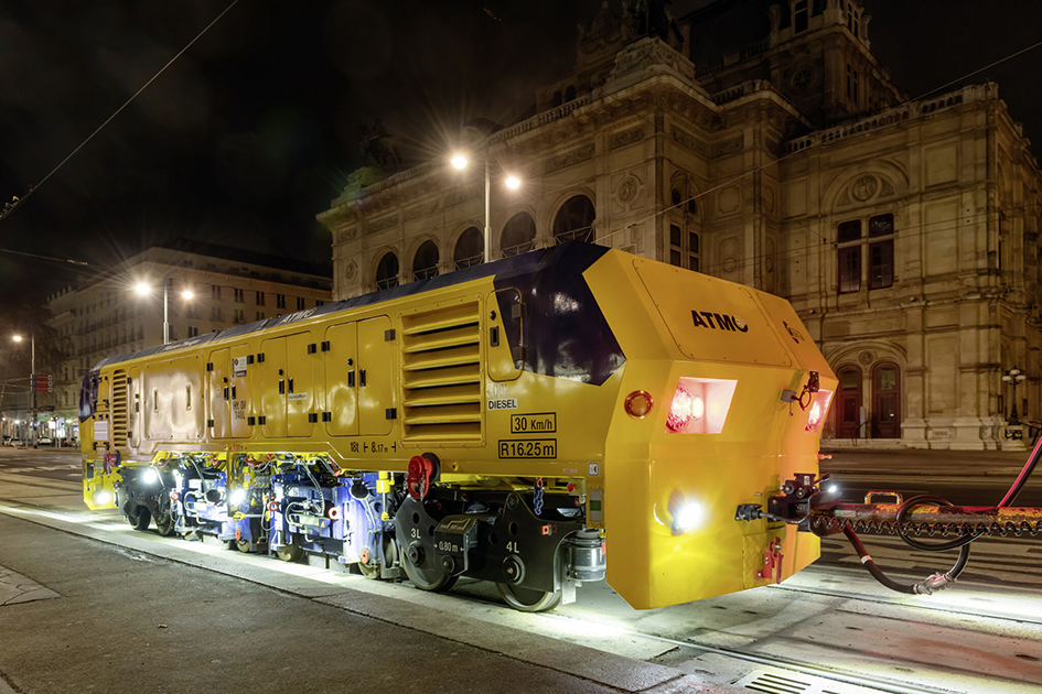 Vienna tests new tramway grinding technology